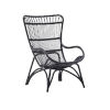 This item: Monet Black High Rack Lounge Chair