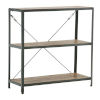 This item: Shelly Steel and Gray 39-Inch Teak Free Standing Shelf