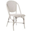 This item: Sofie White and Cappuccino Outdoor Dining Chair