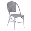 This item: Sofie Gray and White Outdoor Dining Chair