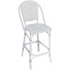This item: Sofie White and Cappuccino Outdoor Bar Stool