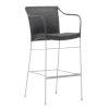 This item: Pluto Teak Gray Bar stool