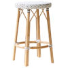 This item: Simone White and Cappuccino Counter Stool