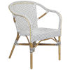 This item: Madeleine White and Cappuccino Bistro Arm Chair