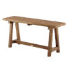 This item: Lucas Natural Brown Outdoor Bench