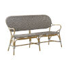 This item: Isabell Cappuccino and White Outdoor Rattan Bench