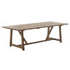 This item: Lucas Natural Brown 95-Inch Dining Table