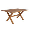 This item: Colonial Natural Brown 63-Inch Outdoor Dining Table