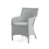 This item: Charlot Light Gray Chair Loom with Sunbrella Sailcloth Seagull Cushion