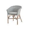 This item: Abbey Light Gray Chair Loom with Sunbrella Sailcloth Seagull Cushion