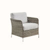 This item: Orion Teak Gray and White Outdoor Chair with Sunbrella Sailcloth Seagull Cushion