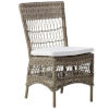 This item: Marie Antique and White Outdoor Armchair with Polyester Snow Cushion