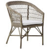 This item: Emma Antique and White Outdoor Dining Chair with Polyester Snow Cushion