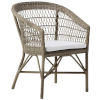 This item: Emma Antique and White Outdoor Dining Chair with Tempotest White Canvas Cushion