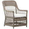 This item: Dawn Antique and White Outdoor Lounge Chair with Tempotest Canvas Cushion