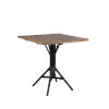 This item: Nicole Café Black Outdoor Table Base with Square Top
