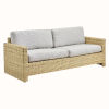This item: Sixty Natural and White Outdoor Three-Seater Sofa with Sunbrella Sailcloth Seagull Seat and Back Cushion