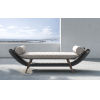 This item: Reverie Feather Gray Fabric Outdoor Bench