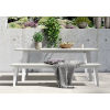 This item: Amsterdam White Sand Concrete Outdoor Bench