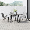 This item: Amsterdam Gray Concrete 47-Inch Outdoor Round Dining Table