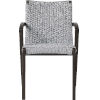 This item: Verge Light Gray Cord Outdoor Dining Chair