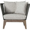 This item: Netta Feather Gray Fabric Outdoor Lounge Chair
