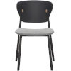 This item: Emi Black Oak and Andorra Wool Dining Chair, Set of Two