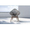 This item: Lucida Dark Gray Cord Outdoor Accent Chair