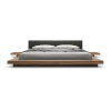 This item: Worth Soft Carbon Fabric and Walnut Cal. King Bed