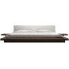 This item: Worth White Eco Leather and Walnut Queen Bed