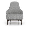 This item: Dyer Mixed Marble Fabric Lounge Chair