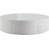 This item: Berkeley White Glass Coffee Table