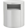 This item: Mulberry Glossy White Nightstand