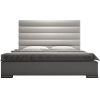 This item: Prince Pearl Gray Eco Leather Queen Bed