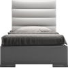 This item: Prince White Eco Leather Twin Bed