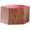 This item: Centre Walnut and Chili Pepper Glass Coffee Table