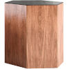 This item: Centre Walnut and Black Glass 18-Inch Coffee Table