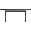 This item: Irving Black Marble 75-Inch Dining Table