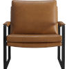 This item: Charles Cognac Vintage Leather Lounge Chair