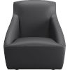 This item: Forsyth Graphite Leather Lounge Chair
