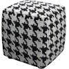 This item: Hester Black White Houndstooth Pouf