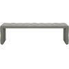 This item: Broad Warm Gray Leather Bench