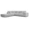 This item: Perry Gris Fabric One Arm Open Right-Facing Corner Sofa