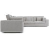 This item: Perry Gris Fabric Two Arm Extended Corner Sofa