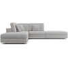 This item: Perry Gris Fabric Sectional Armless Corner Sofa