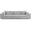 This item: Perry Gris Fabric Sectional Three Seat Sofa