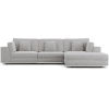 This item: Perry Gris Fabric Sectional Three Seat Sofa with Ottoman
