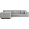This item: Perry Gris Fabric Two Arm Compact Corner Sofa