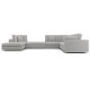 This item: Perry Gris Fabric Sectional Two Corner Sofa