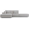This item: Perry Gris Fabric Sectional Open Sofa With Ottoman
